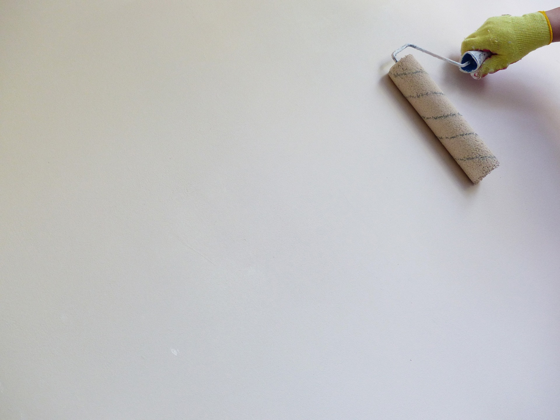 peinture mur rouleau