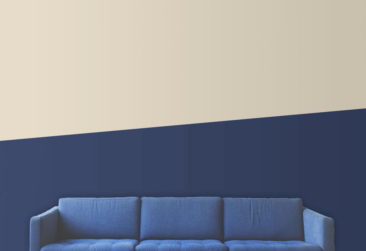 peinture deux couleurs diagonale