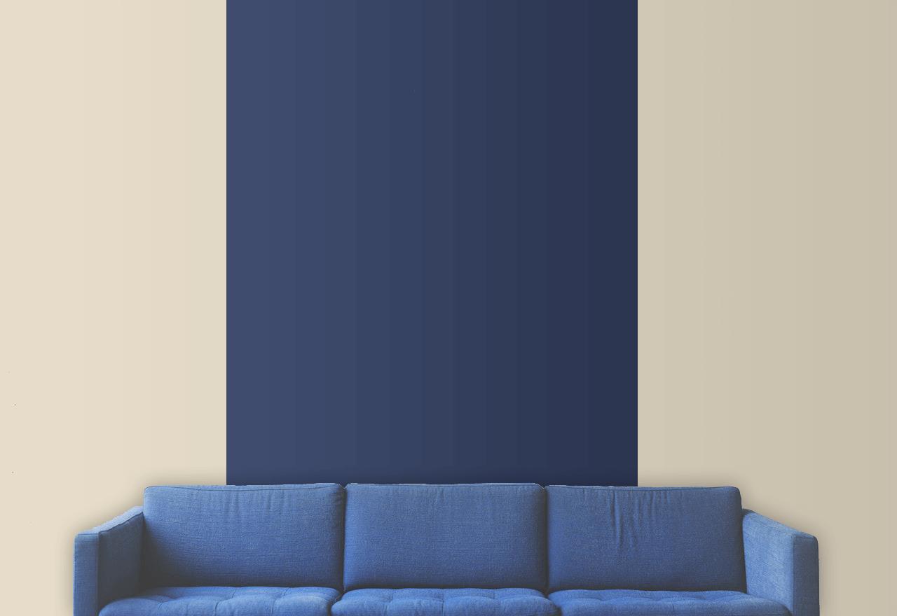 peinture deux couleurs bande verticale