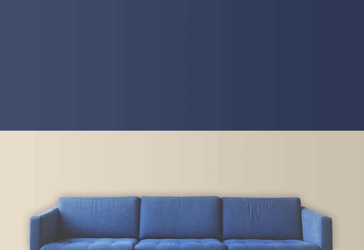 peinture deux couleurs séparation horizontale